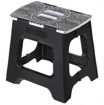 Compact foldable stool black 32cm