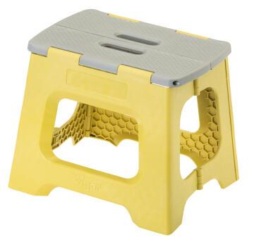 Compact foldable stool mustard 27cm