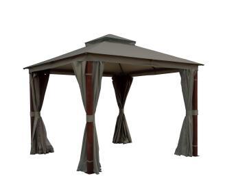 Gazebo 3 m X 3 m with Sidewalls (Wood Style)