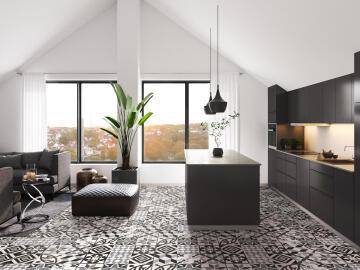 Floor Tile Matt Porcelain Vintage Cementine 600x600mm (1.8m2/box)