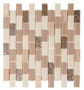 Mosaic Glass & Brick Tile FALCON Capulet 325x300mm