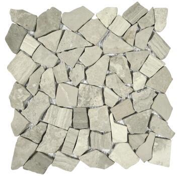 Mosaic Tile Stone Light Grey 305x305mm
