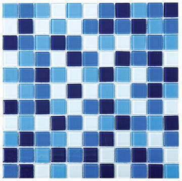 Mosaic Glass Tile Blue Mix 300x300mm