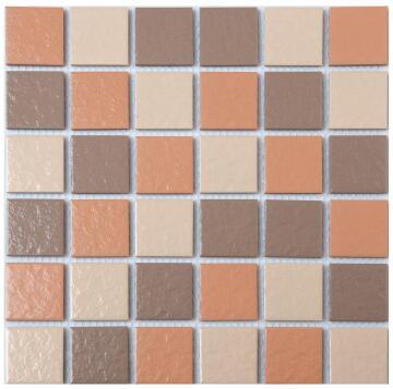 Mosaic Tile Porcelain Brown Mix 300x300mm