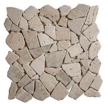 Mosaic Tile Stone Cream 305x305mm