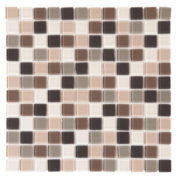Mosaic Tile Glass Beige Mix 300x300mm