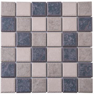 Mosaic Tile Porcelain Ash Brown Mix 300x300mm