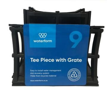 PVC Drain T-Piece Black WATERFORM