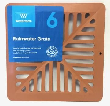 PVC Pit Grate Terra Cotta WATERFORM