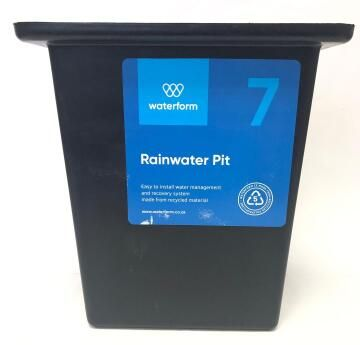 PVC Drain Pit Black WATERFORM