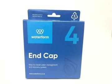 PVC Drain End Cap Black WATERFORM