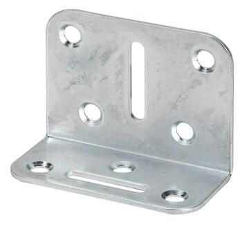 Adjustable bracket galvanised 70x50x35mm vormann