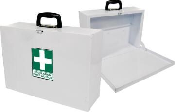First aid regulation box metal maxi white