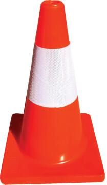 Reflective road cone pvc maxi 450mm