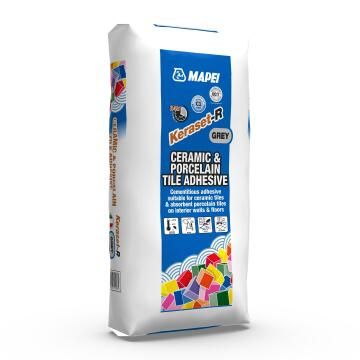 Ceramic and Porcelain Tile Adhesive Keraset-R MAPEI 20kg
