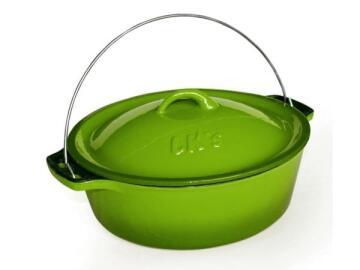 Lk'S Pot Bake 12 5.0L (C/I) Green Enamel