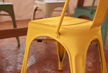 Chair Steel Soho Yellow Matt