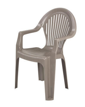 Chair Elegance Mid-back Plastic Stone Colour