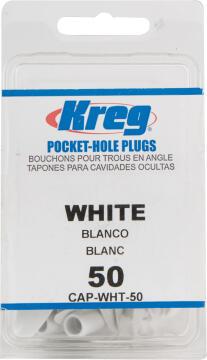 White Plastic Plugs 50 pieces KREG
