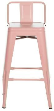 Chair Soho Pink Stool 66 cm High with Backrest