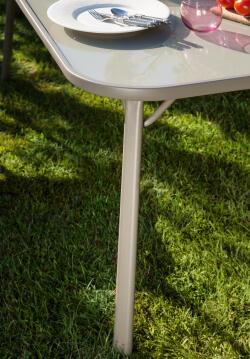 Table Pilar With Glass 150 cm X 95 cm X 71,5 cm
