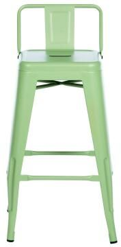 Chair Soho Green Stool 66 cm High With Backrest