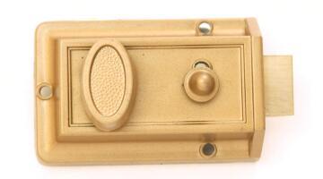 Night latch brass finish euro brass
