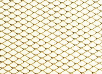 Metal sheet grille aluminium gold color 500x250x0.8mm arcansas