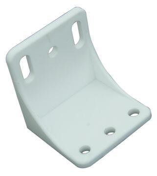 Corner Bracket Large 48X48 White 2P