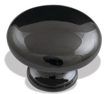 knob pearl drop black nickel