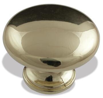 knob pearl drop brass