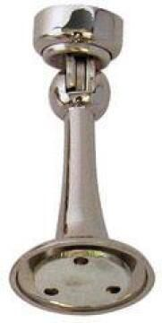 Magnetic door stop satin nickel finish euro brass