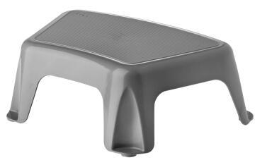 Plastic stool grey rengro 14cm