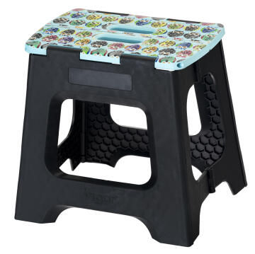 Compact foldable stool owl pattern 32cm