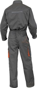 WORKING OVERALL 2 ZIP GREY-ORANGE 3XL