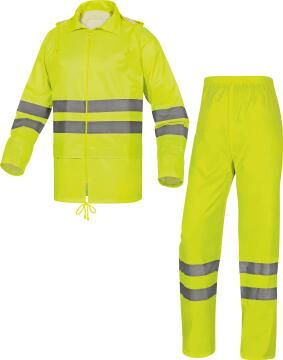 Safety Rainsuit Deltaplus Polyester & Pvc Yellow Size 2Xlarge
