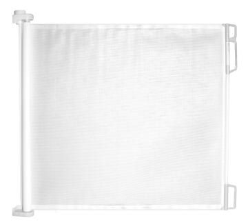 Baby safety gate standard doorway retractable white perma