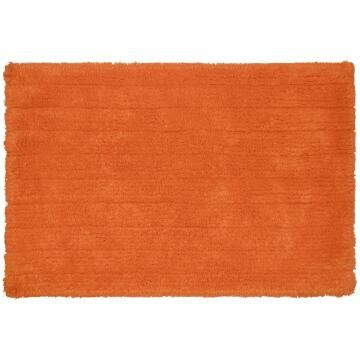 Bath mat woven cotton SENSEA Milano orange 40X60CM