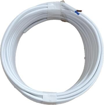 cable flat mains 0.75mm 10m wh