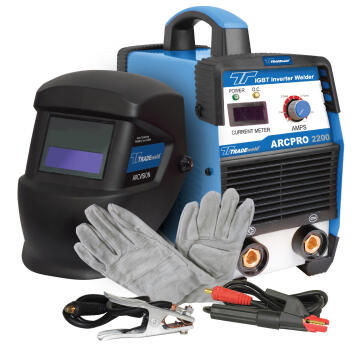 Inverter welder Arc Pro 2200 200A combo kit with accessories TRADE POWER
