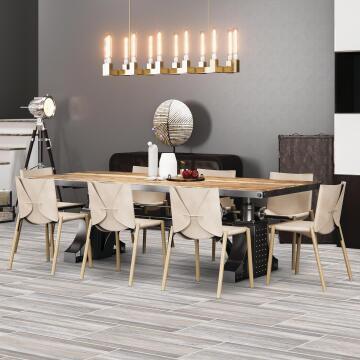 Floor Tile Ceramic Barn Ash 242x490mm (1.21m2/box)