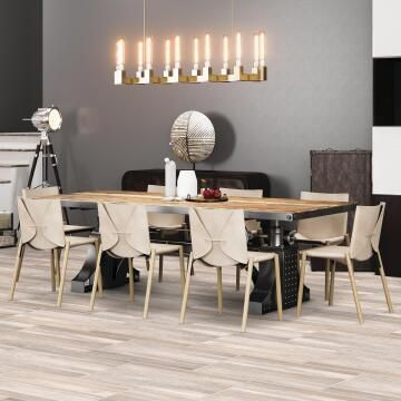 Floor Tile Ceramic Barn Almond 242x490mm (1.21m2/box)