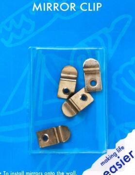 Mirror clip nickel plated cranked 4pc dejay