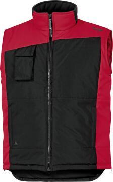 Work Vest Deltaplus Body Warmer Waterproof Red Size Xlarge