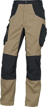 Work Pants Deltaplus Mach5 Beige & Black Size Medium