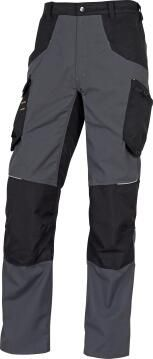 Work Pants Deltaplus Mach5 Grey & Black Size Small