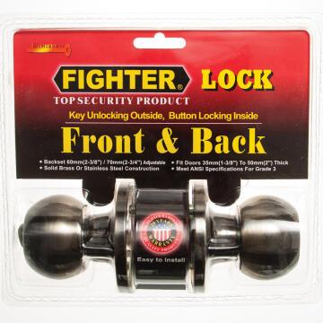 Knoblock round antique brass fighter