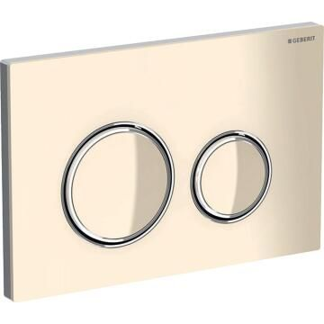 Geberit actuator plate Sigma21 for dual flush sand grey, bright chrome-plated