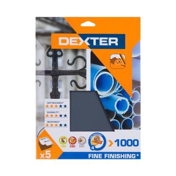 Water paper G1000 MET/PL DEXTER 5 pieces 230x280mm