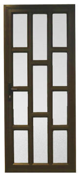 Exterior Door Aluminium with Frame (Prehung) Staggered Bronze Right Hand Opening Open-in-w890xh2090mm